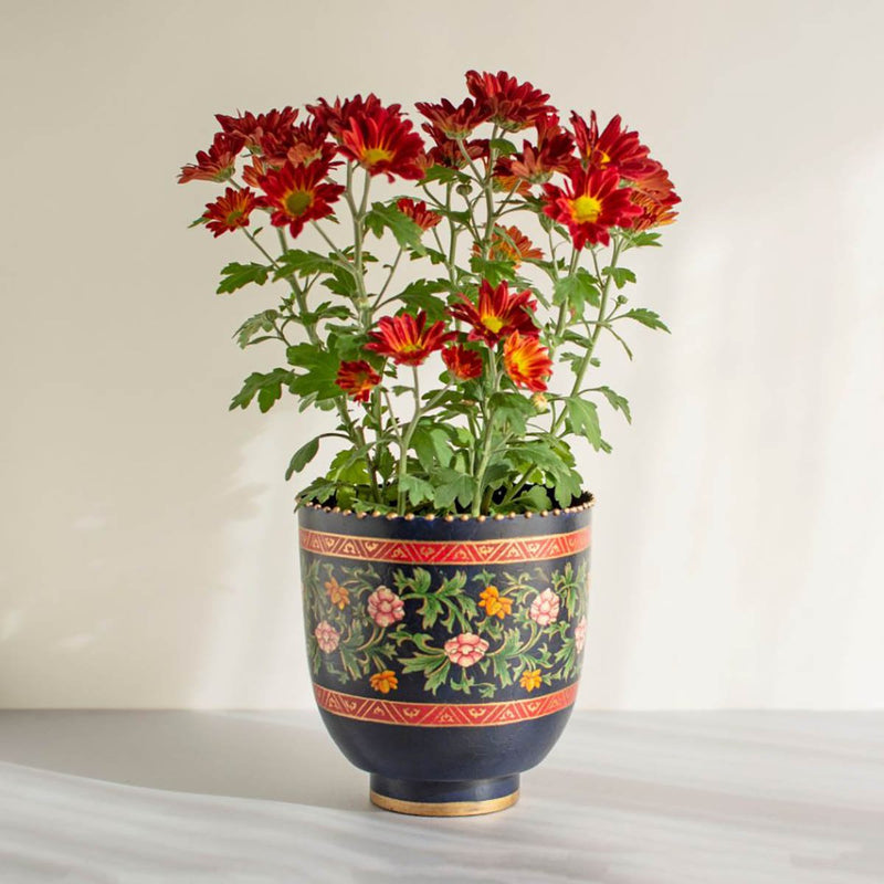 Planter (Metal) - Firdaus Handpainted (Medium)