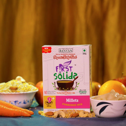 First Solids Millets Porridge Mix (Organic Baby Food) (9+ Months)
