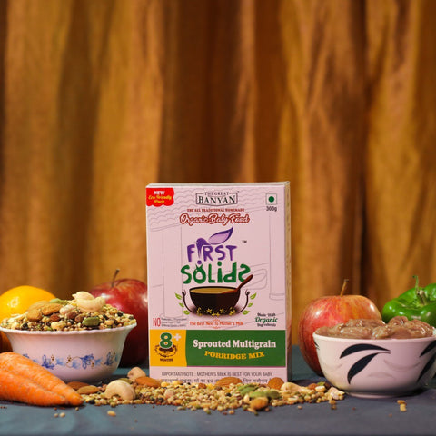 First Solids Sprouted Multigrain Sathu Maavu Porridge Mix (Organic Baby Food) (8+ Months)