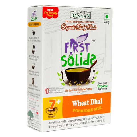 First Solids Wheat Dhal Porridge Mix (Organic Baby Food) (7+ Months)