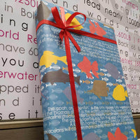 Fish Aqua Birthday Gift Wrapping Paper (Set Of 10)