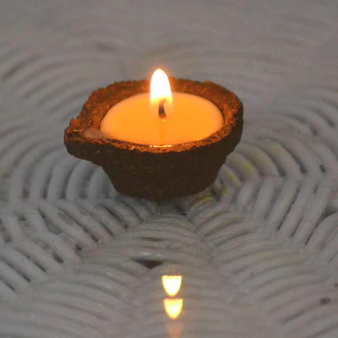 Five Element Diya With Pure Cow Ghee -(set of 6 diyas)