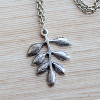 Flora & Foliage Pendant With Chain Necklace
