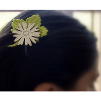 Flower Leaf Earthy Tones Clip Green Brown
