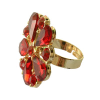 Flirty Red  Cocktail Ring For Women