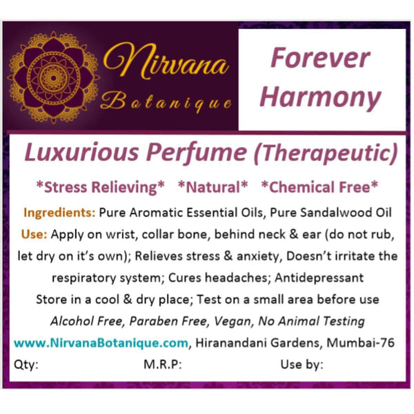 Forever Harmony Luxurious Perfume (Therapeutic) at Qtrove