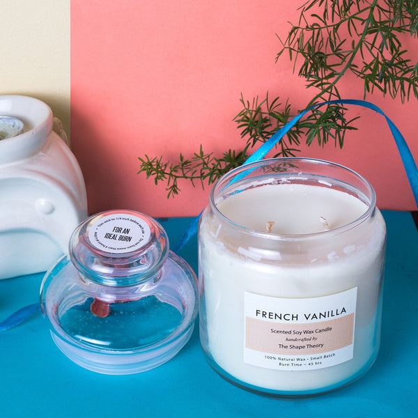 French Vanilla - Scented Soywax Candle (100% Natural Wax) at Qtrove