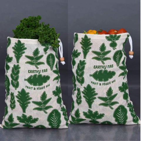 Fridge Bags for Vegetables (100% Cotton) (Eco Friendly) (Multipurpose)