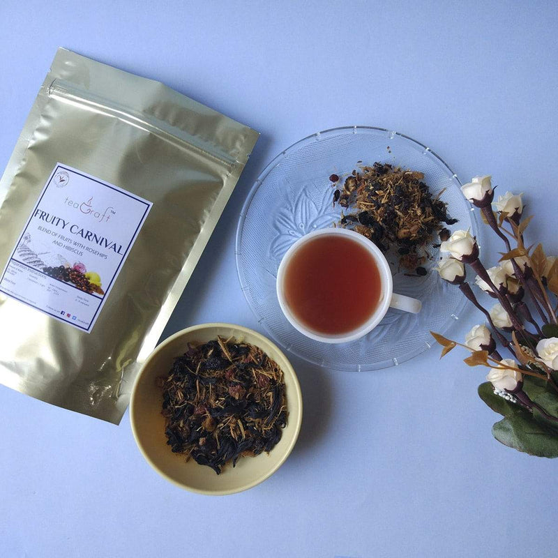 Fruity Carnival Tea (Blend of Fruit with Rosehips and Hibiscus)
