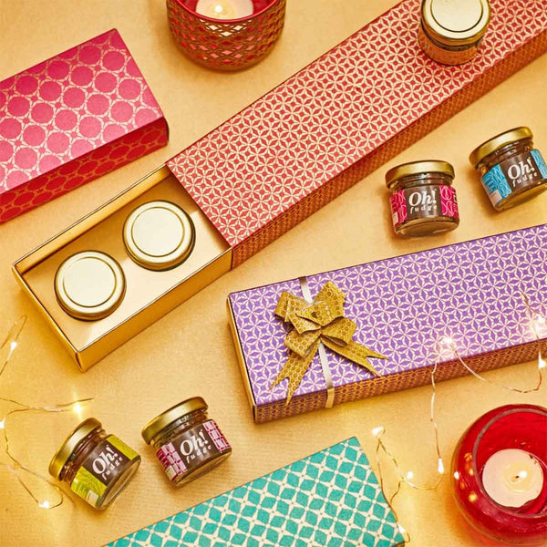 Fudge Gift Box (5 Mini Jars) at Qtrove