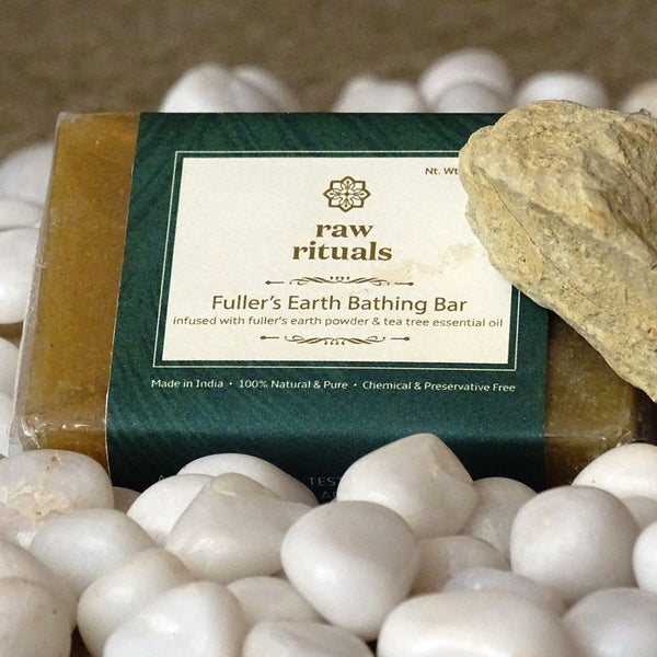 Handcrafted Fuller's Earth Bathing Bar (Pack of 2) at Qtrove