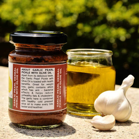 Garlic Pearl Pickle With Olive Oil (Pack of 2)