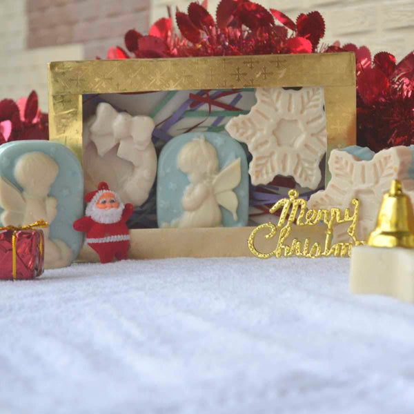 Gentle Handmade Soap Christmas Gift Hamper (Pack of 3) at Qtrove