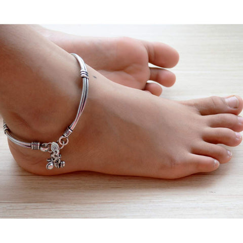 German Silver Simple Everyday Wear Anklet Ankle Bracelet Jewelry