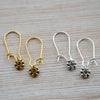 Minimalists Flower Gold and Silver Earrings (2 Pairs)
