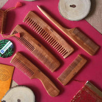 Neem Wood Combs (Set Of 5)