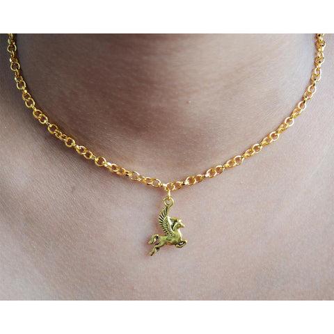 Gold Plated Unicorn Necklace And Bracelet (Gift Set)