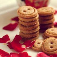 Gluten Free Damask Rose Button Cookies