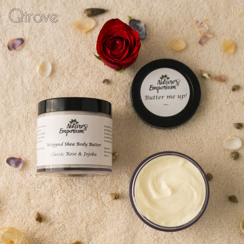 Handmade Classic Rose And Jojoba Whipped Shea Body Butter