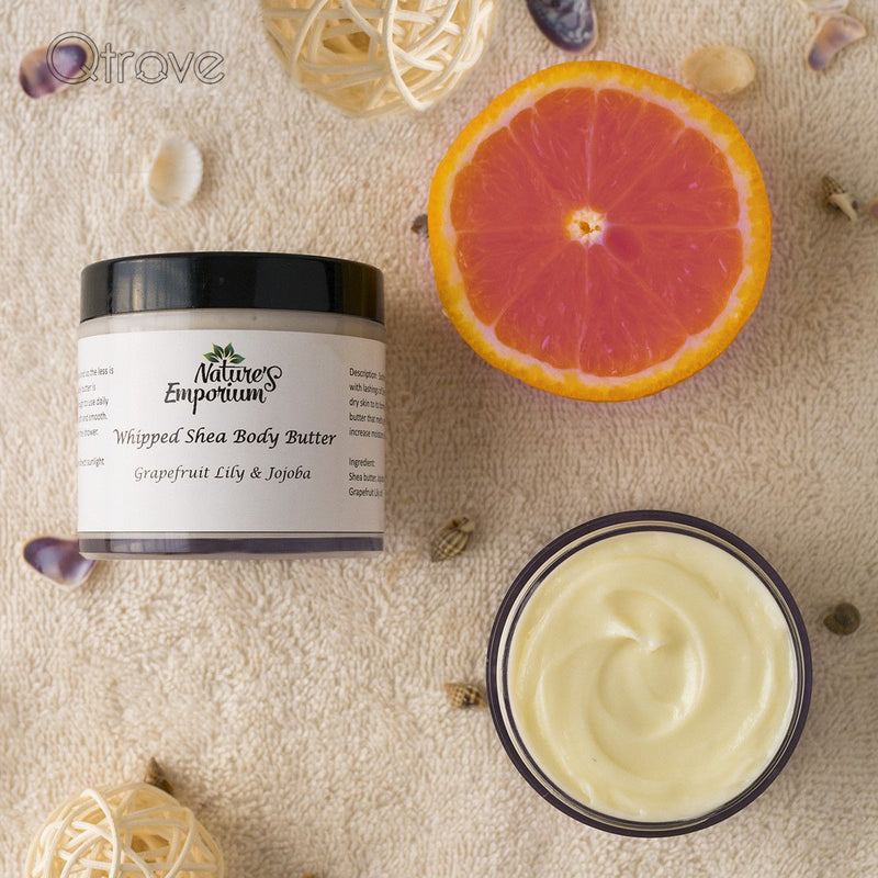 Handmade Grapefruit Lily And Jojoba Whipped Shea Body Butter