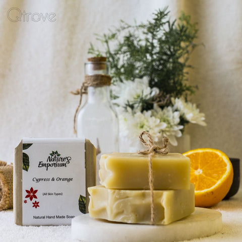 Handmade Men's Range Cypress And Orange Soap