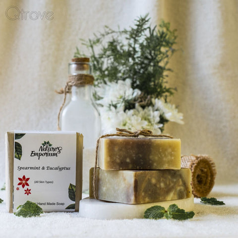 Handmade Men's Range Spearmint And Eucalyptus Soap