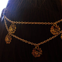 Gold Engraved Dragonfly Boho Headchain