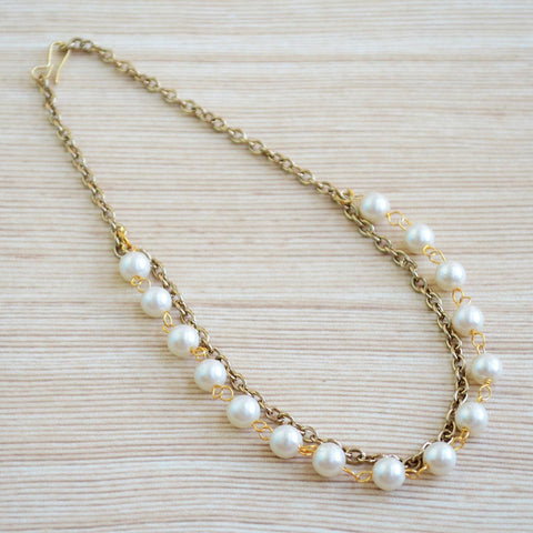 Gold Pearl Indian Ethnic Anklet Festive Wear Boho Jewelry