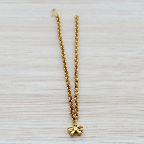 Gold Plated Bow Anklet - Uber Chic Boho Jewellery
