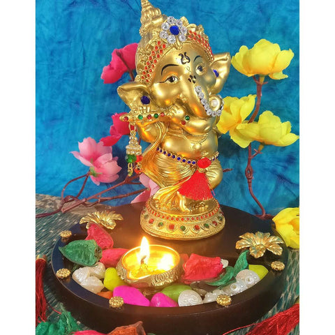 Golden Ganesha Idol