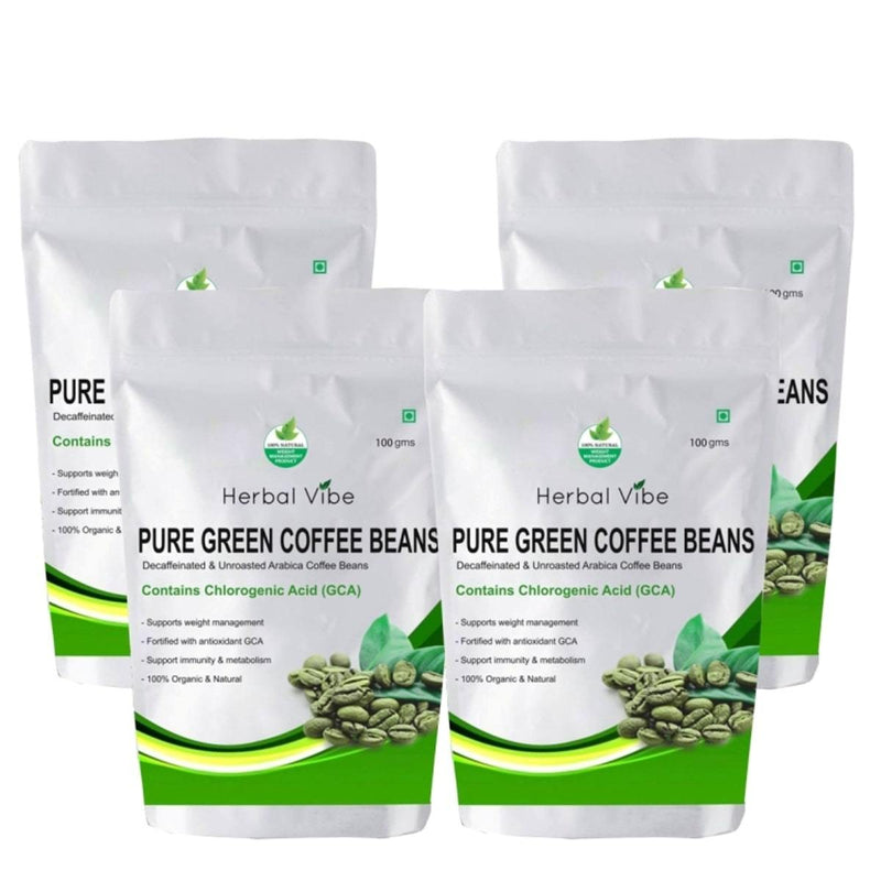 Green Coffee Beans (Pack of 4 -Weight Loss)
