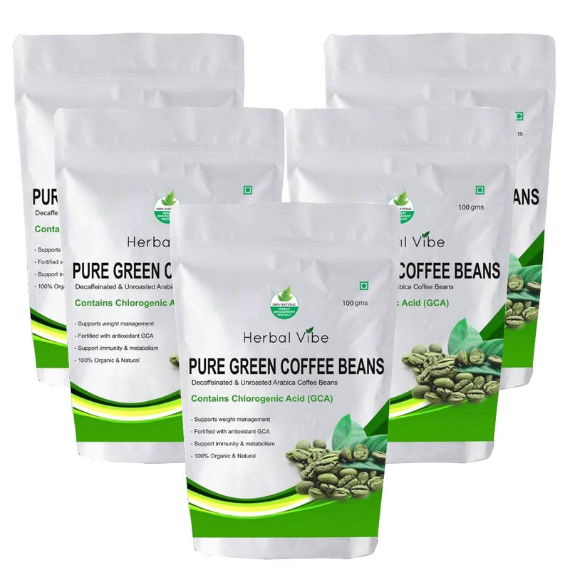 Green Coffee Beans (Pack of 5 -Weight Loss)