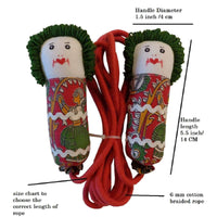Skipping Ropes for Kids and Adults (Green and Red)