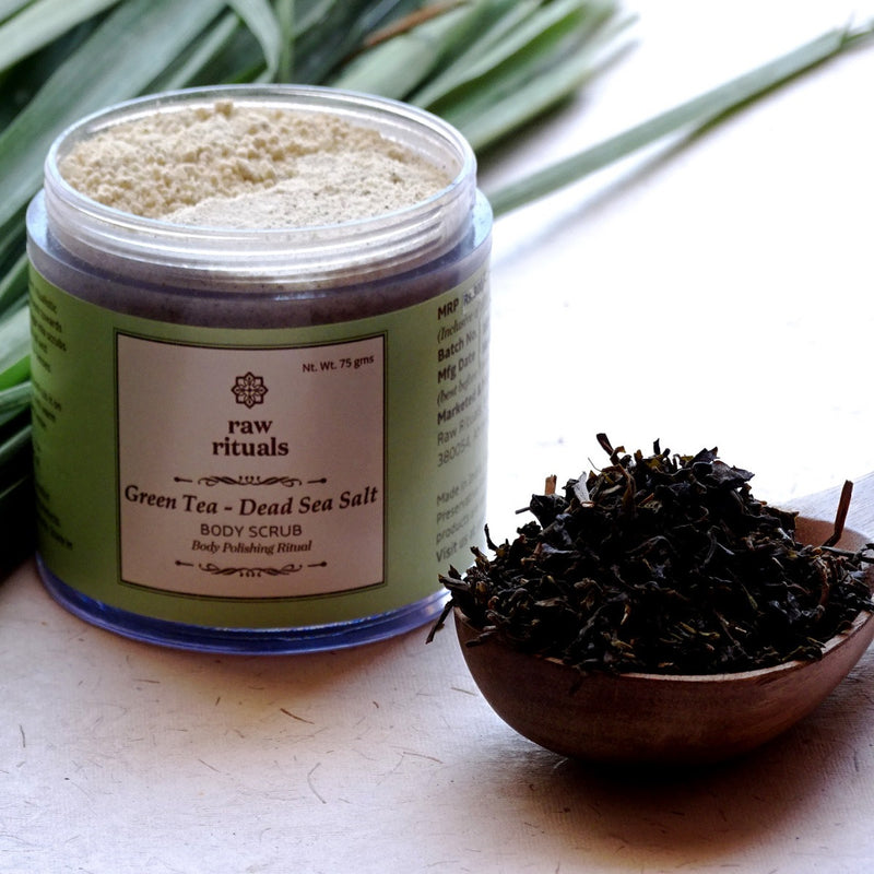 Chemical-Free Green Tea And Dead Sea Salt Body Scrub