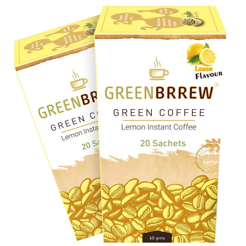 Lemon Instant Green Coffee (Pack of 2)