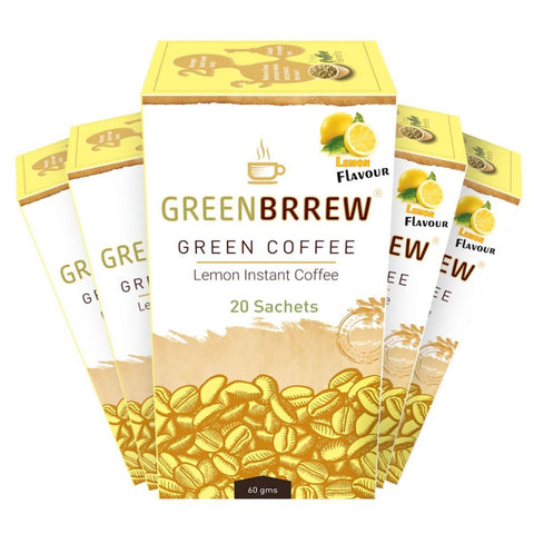 Lemon Instant Green Coffee (Pack of 5)