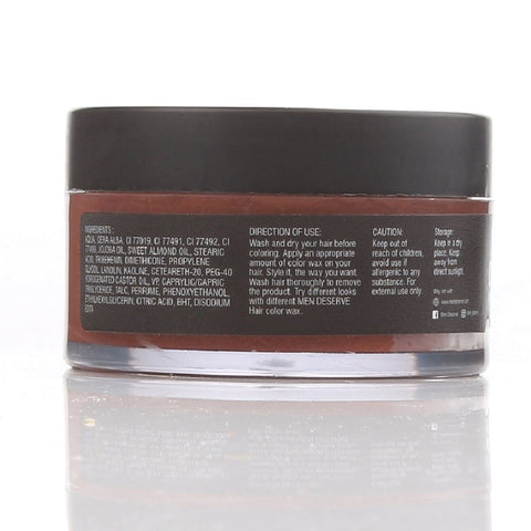 Hair Color Wax Strong Hold And Volume For Highlights, Parties And Special Occasions (Metallic Copper)
