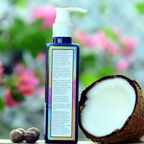 Mild Shampoo/Hair Wash - Paraben and Sulfate Free | Nutmeg | All Hair Types | Rasalila | 200 ml