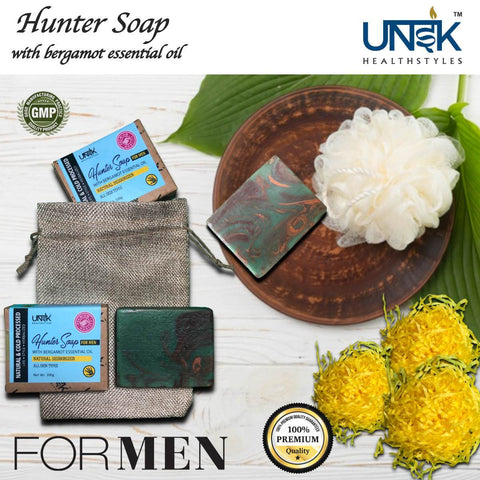 Handcrafted Bergamot & Cedarwood Soap for Men (Pack of 2)