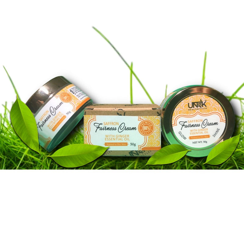 Handcrafted Fairness Cream (Saffron, Rose Water & Ginger Essential Oil)