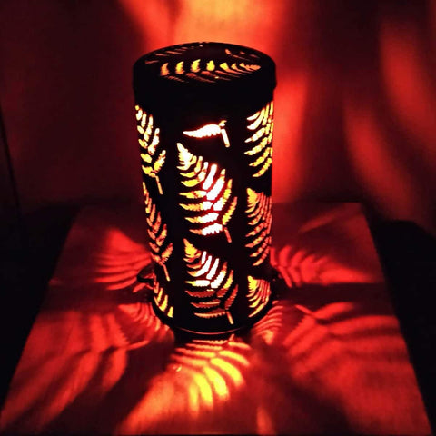 Handcrafted Leaf Lantern And Bamboo Tumblers (2)