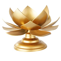 Handcrafted Lotus On Stand Design Candle Holder