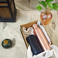 Handcrafted Mandala Lantern And Copper Water Bottle (1 Ltr)