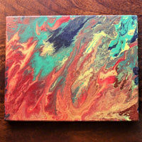 Handmade Acrylic Painting - Colours of Fire