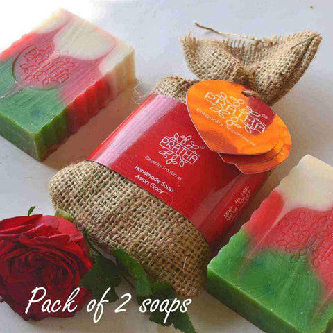 pack Of 2 With Traditional Methods Sulphate Free Sugar Handmade Soap Sandalwood