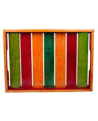 Handpainted Multicolour Wooden Tray