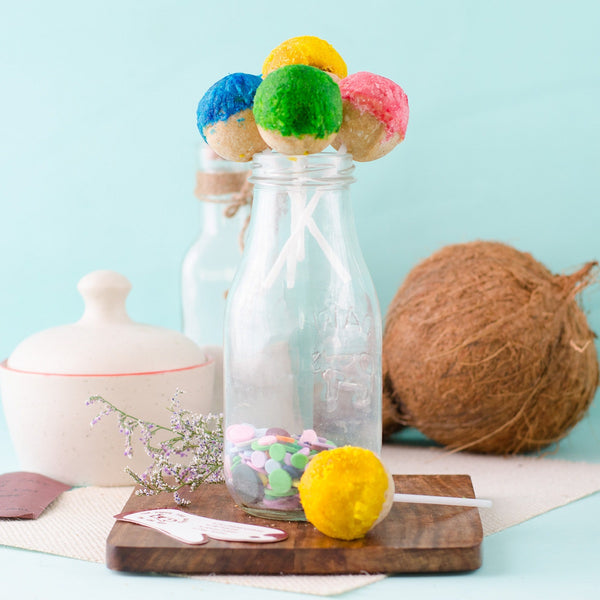 Colourful Coconut Cake Pops (Pack of 5) at Qtrove