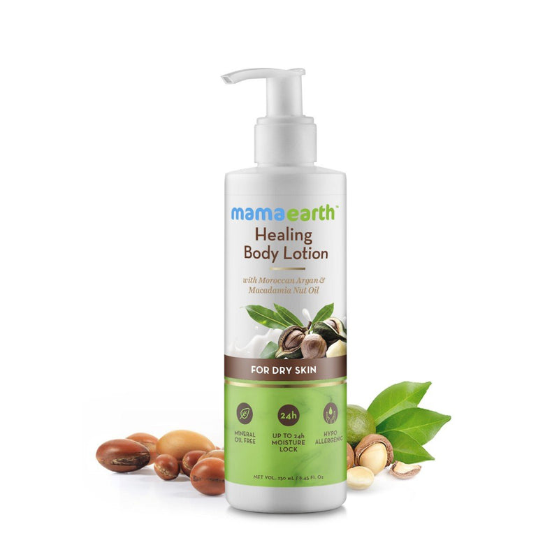 Healing Natural Body Lotion For Dry Skin