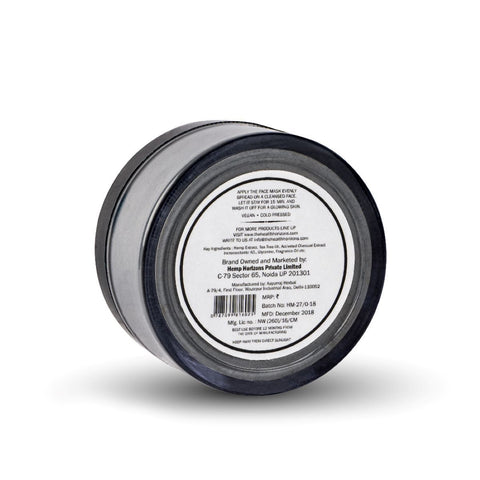 Activated Charcoal and Hemp Face Mask Cream