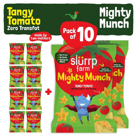 Healthy Snacks - Mighty Puff, Tangy Tomato (Pack of 10)